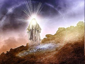 Moses with his shining face descending from Mt. Sinai (Exod 34:29)