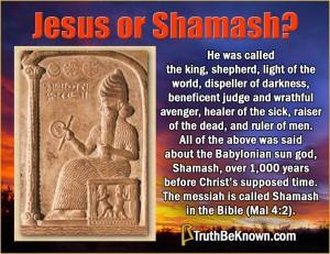 Jesus or Shamash?