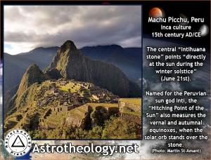 Macchu Pichu alignments